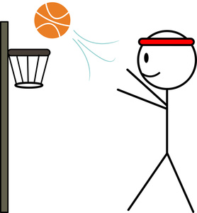 Basketball Shooting Clipart - Clipart Kid