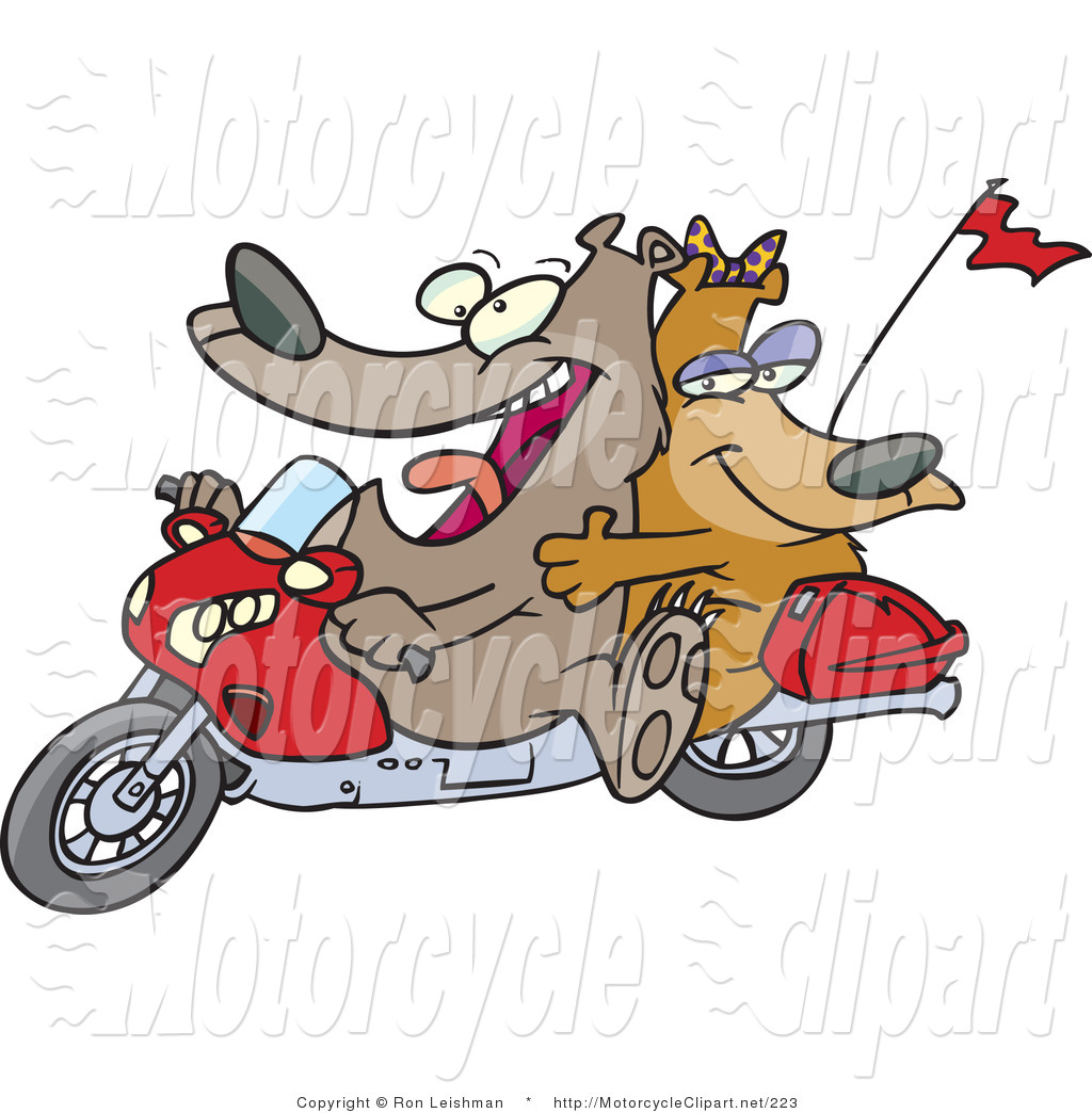 Transportation Clipart Of A Cartoon Bears By Ron Leishman    223