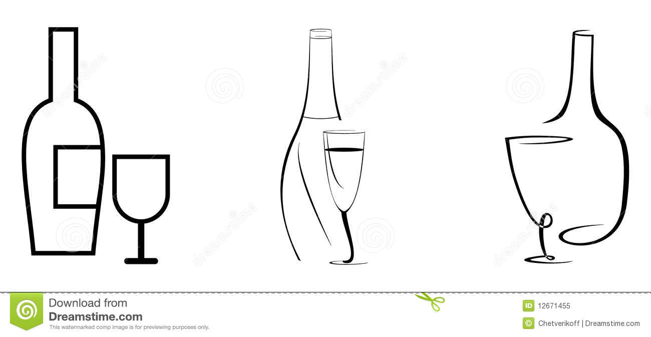 Wine Bottle Outline Png