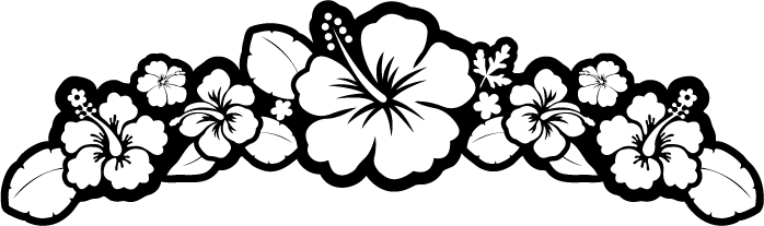 Hibiscus Black And White Clipart - Clipart Kid