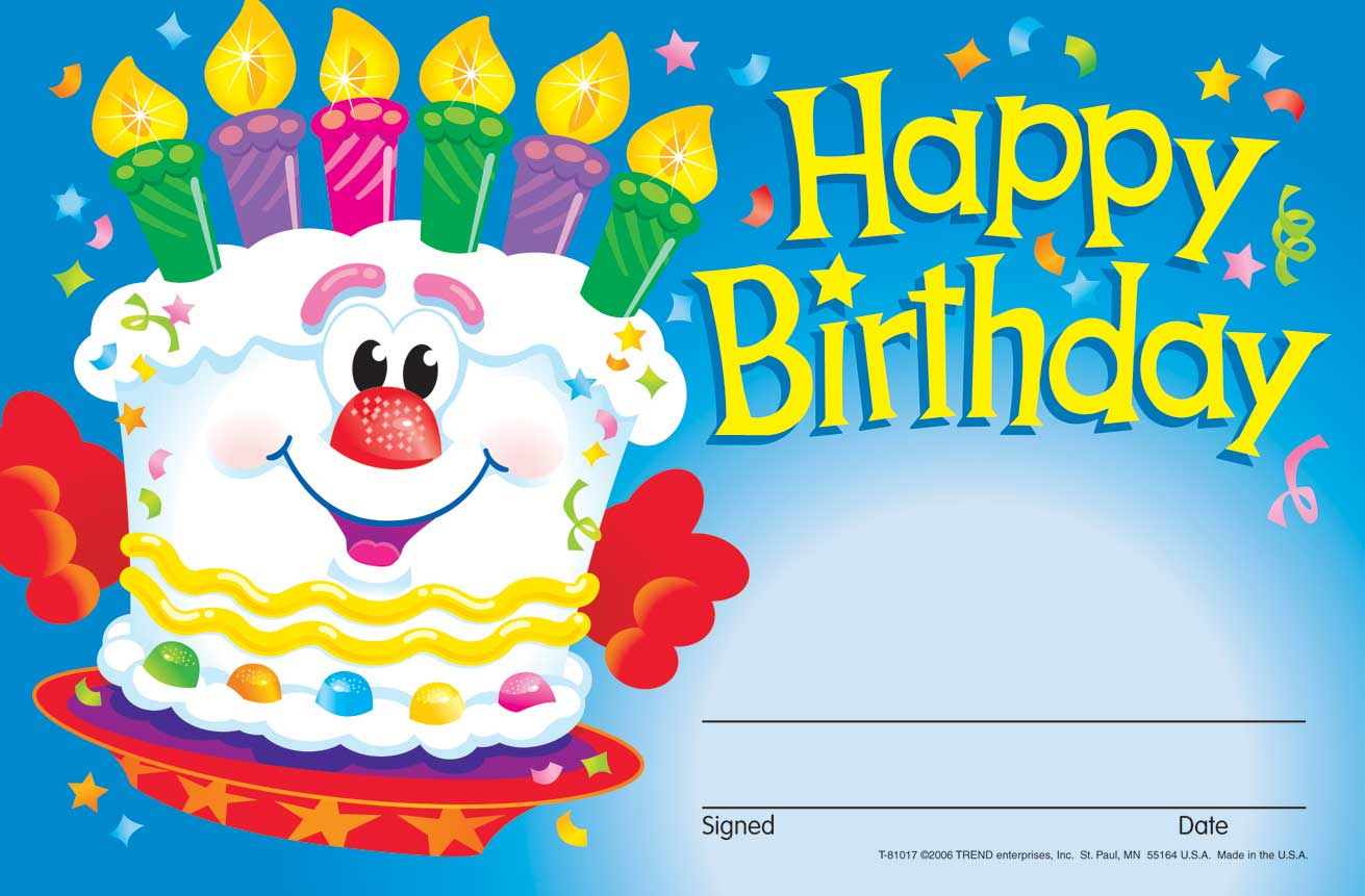 About 30 Kids Happy Birthday Reward Recognition Certificate Award Pad