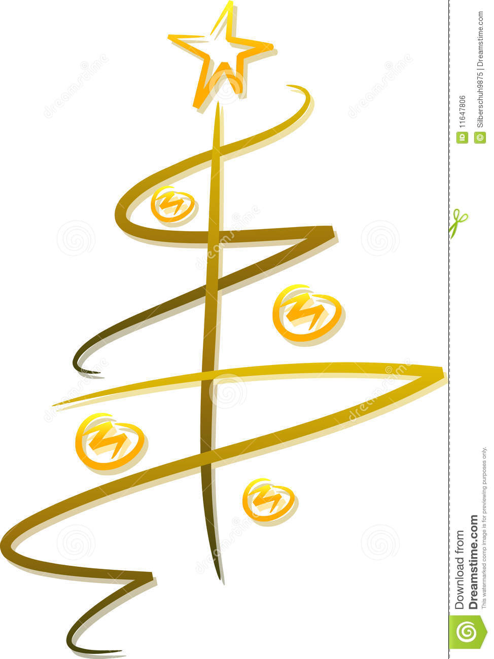 Abstract Christmas Tree Clipart Abstract Golden Christmas Tree