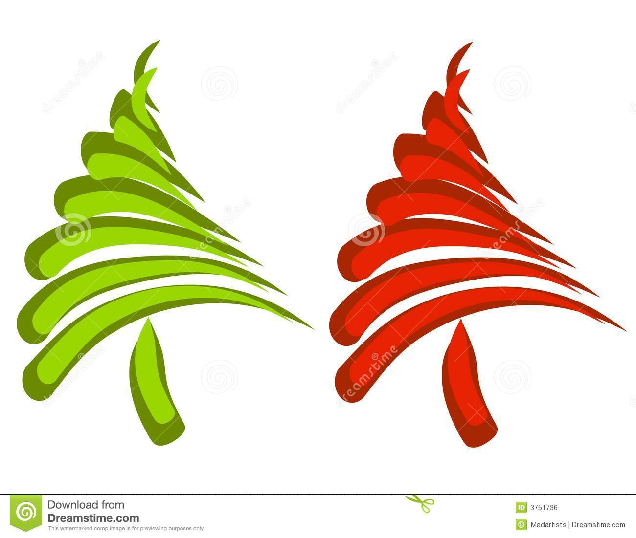 Abstract Christmas Tree Clipart Abstract Swoosh Christmas Trees