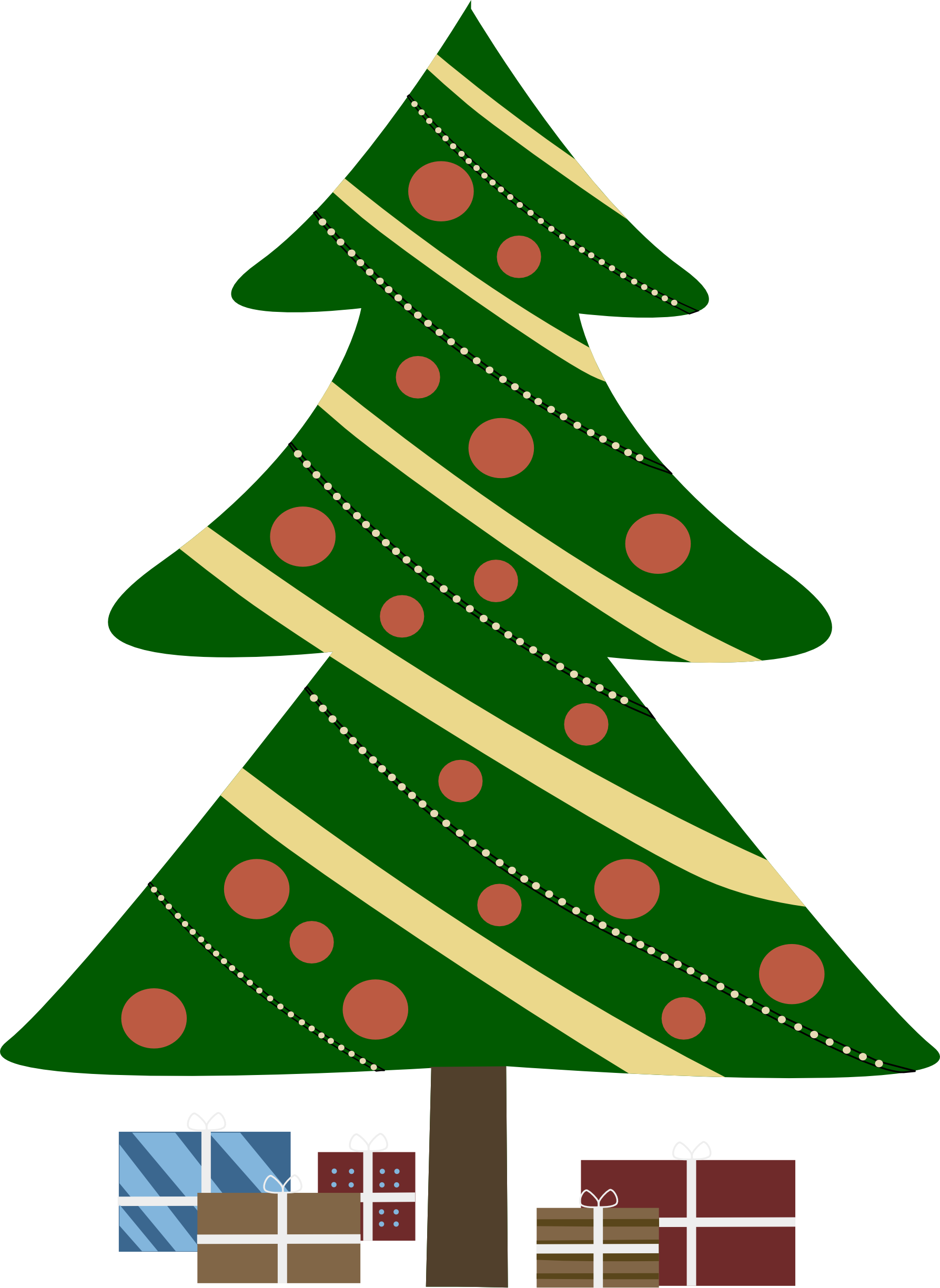 Abstract Christmas Tree Clipart - Clipart Kid