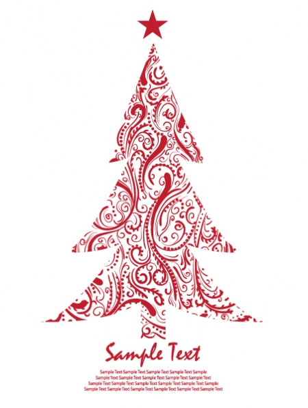 Abstract Christmas Tree Clipart   Cool Eyecatching Tatoos