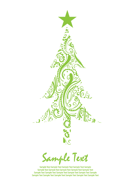 Abstract Christmas Tree Clipart   Quotes Lol Rofl Com