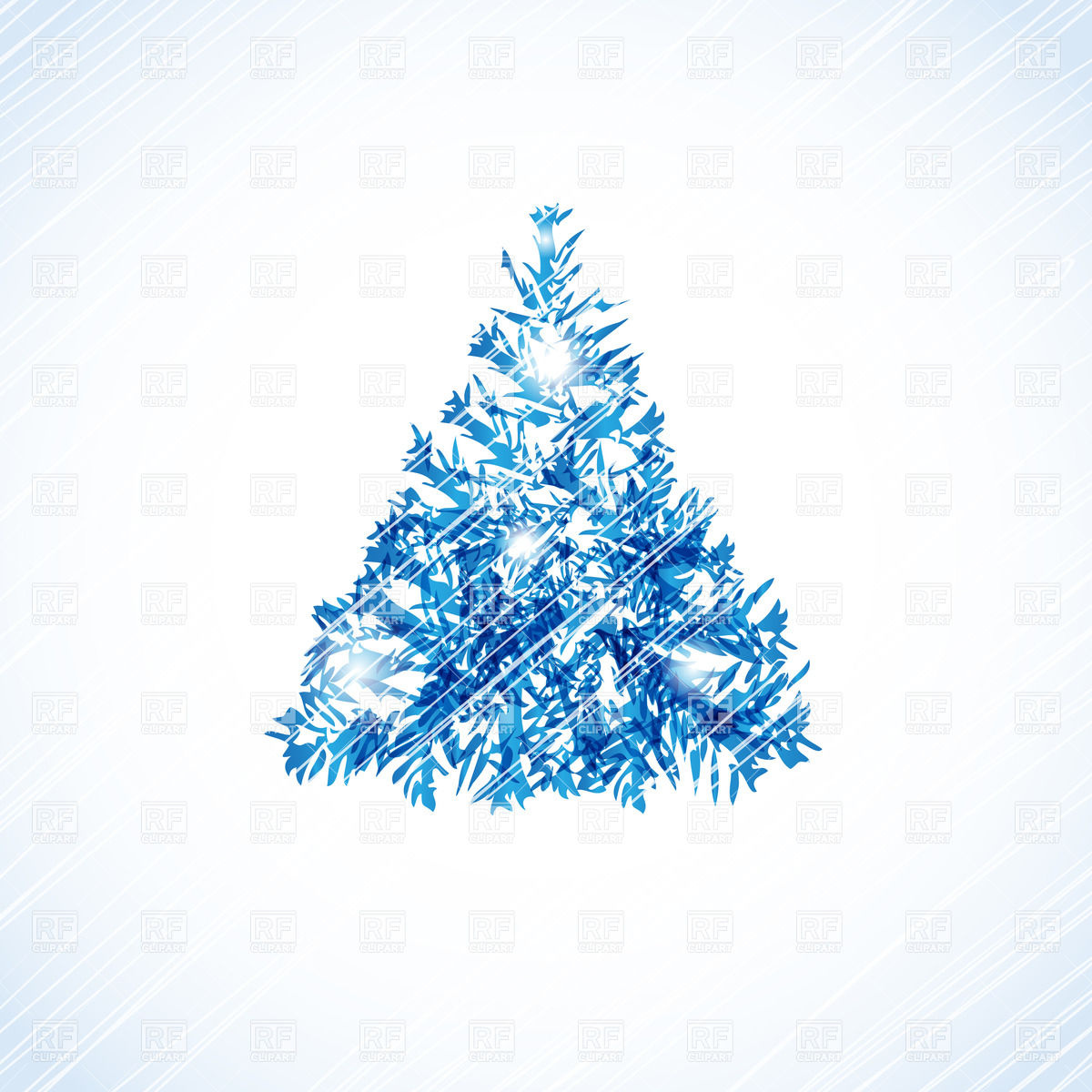 Abstract Christmas Tree Made Of Scratches And Scribbles Download