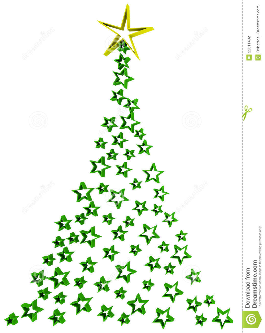 Abstract Christmas Tree Stock Photography   Image  22611492