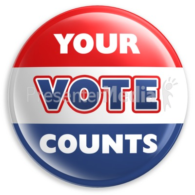 Badge Button Your Vote Counts   Signs And Symbols   Great Clipart For