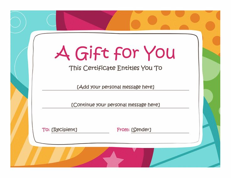 Birthday gift certificate clipart clipart suggest for Downloadable gift certificate templates