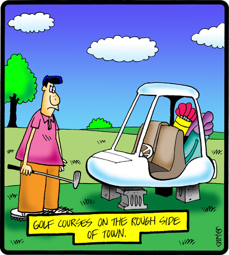 Cartoon  Bad Golf Courses  Medium  By Cartertoons Tagged Golfsports