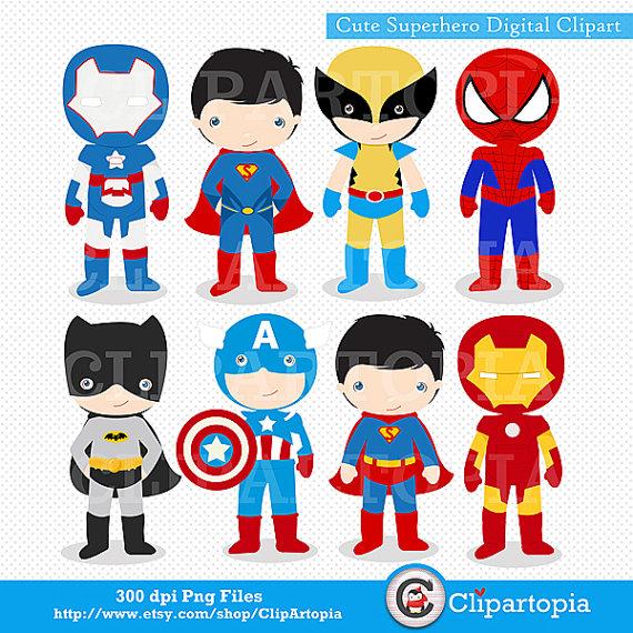 Cartoon Superheroes Clipart - Clipart Kid