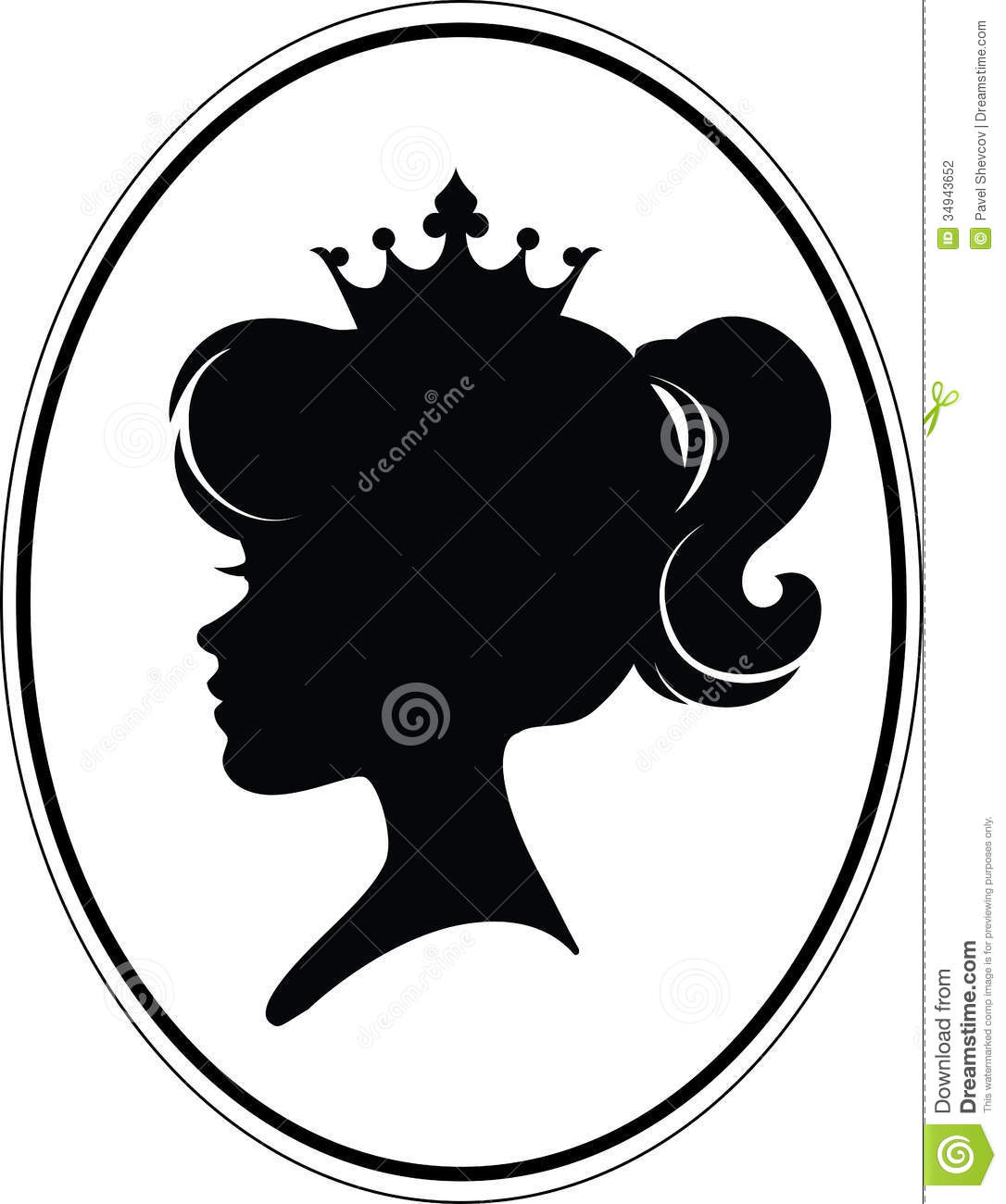 Pageant Crown Silhouet...