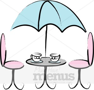 French Cafe Table Clipart   Cafe Clipart