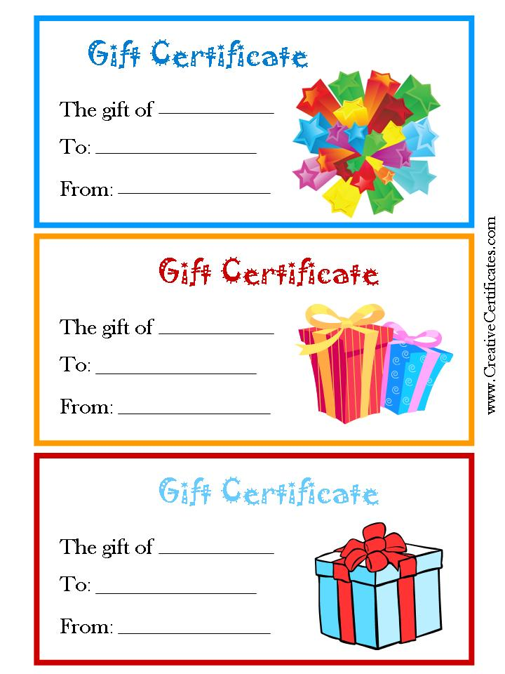 It is a photo of Nifty Gift Certificate Clip Art