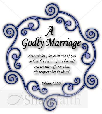 Godly Marriage   Christian Wedding Clipart