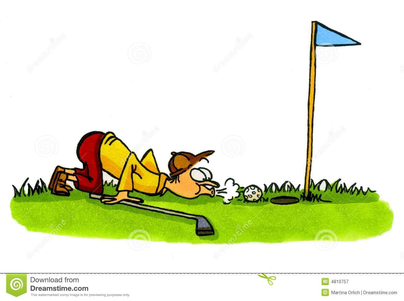 Golfer   Golf Cartoons Series Number 4 Royalty Free Stock Photography