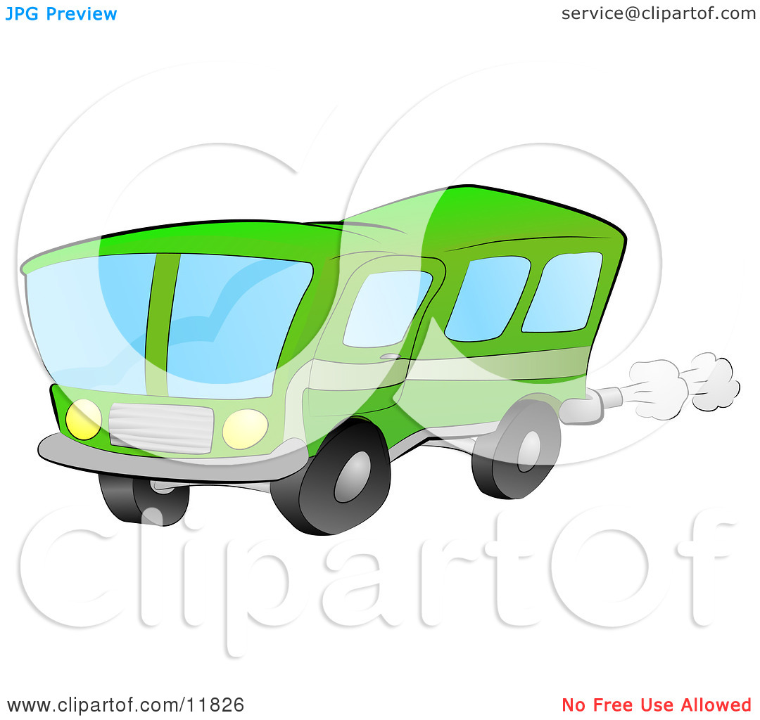 Green Bus For Public Transportation Clipart Illustration By Geo Images