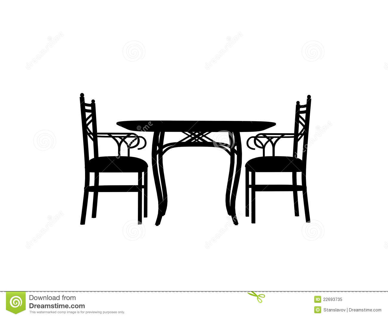 restaurant table clipart chairs table silhouette