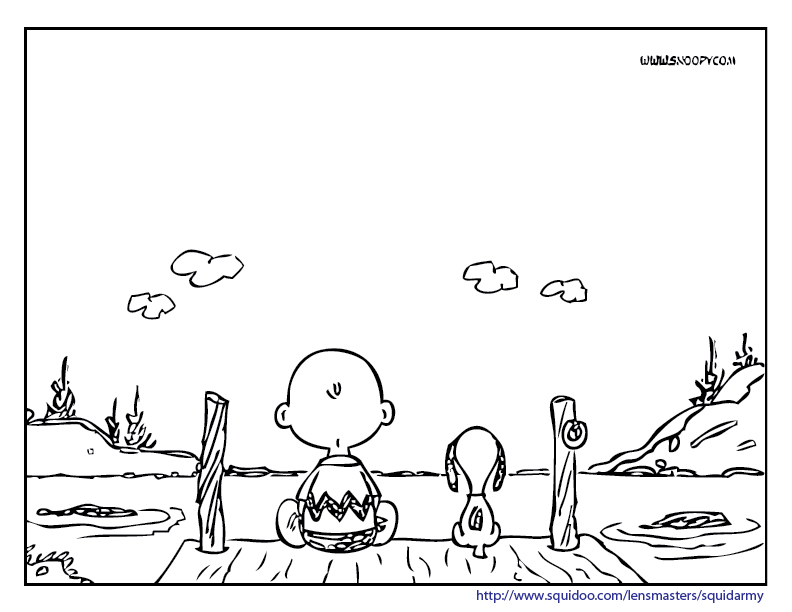 Snoopy And Charlie Brown Coloring Pages Jpg