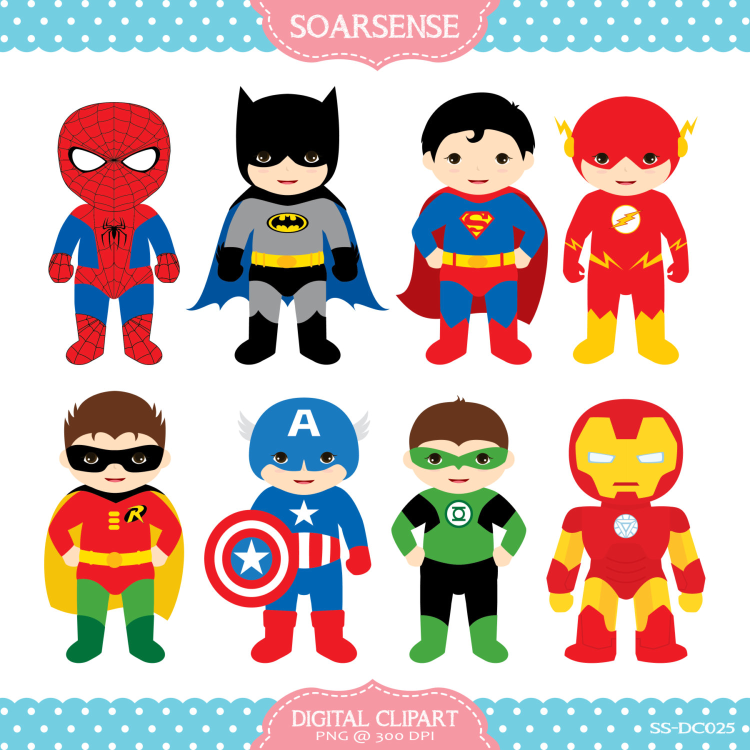 Superheroes Clipart   2 February 21 2014 At 12 57pm