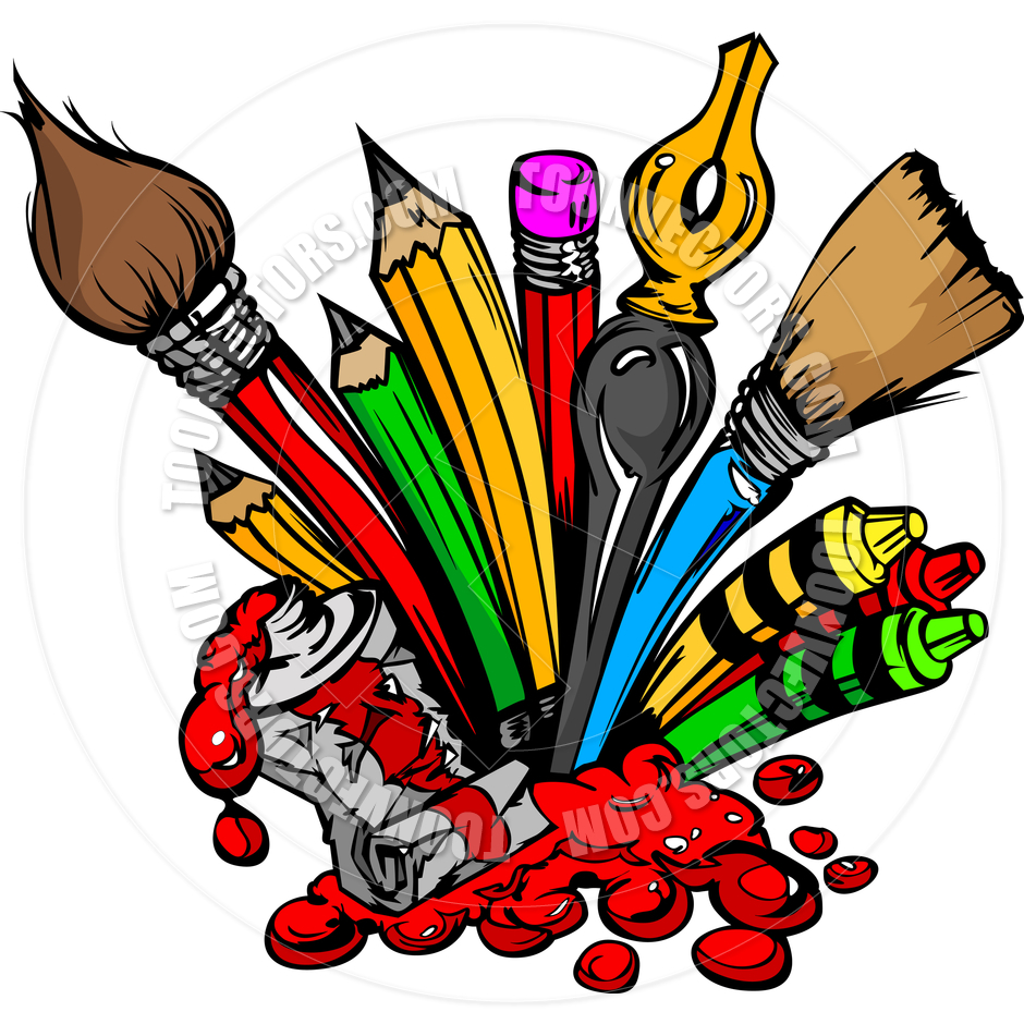 School Supplies Black And White Clipart  Clipart Suggest
