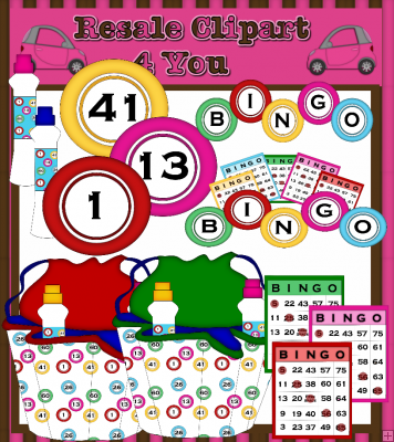Bingo Clipart    1 25   Resale Clipart 4 You Clipart You Can Create