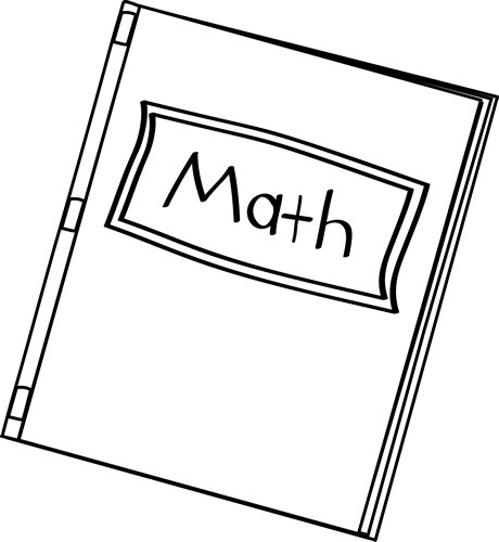 Black And White Math Book Clip Art   Black And White Math Book Image