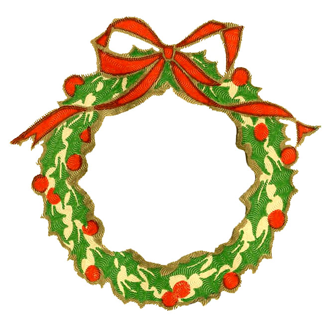 Christmas Clip Art   Wreath Frame   Silhouette   The Graphics Fairy