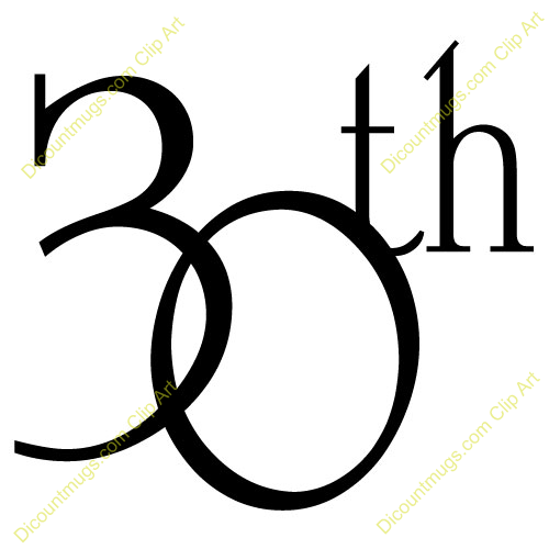 30th Birthday Clipart - Clipart Suggest