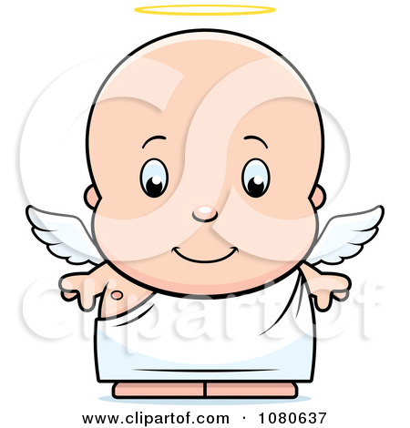 Clipart Cute Baby Boy Angel   Royalty Free Vector Illustration By Cory