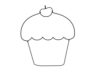 Cupcake Outline Clipart - Clipart Suggest