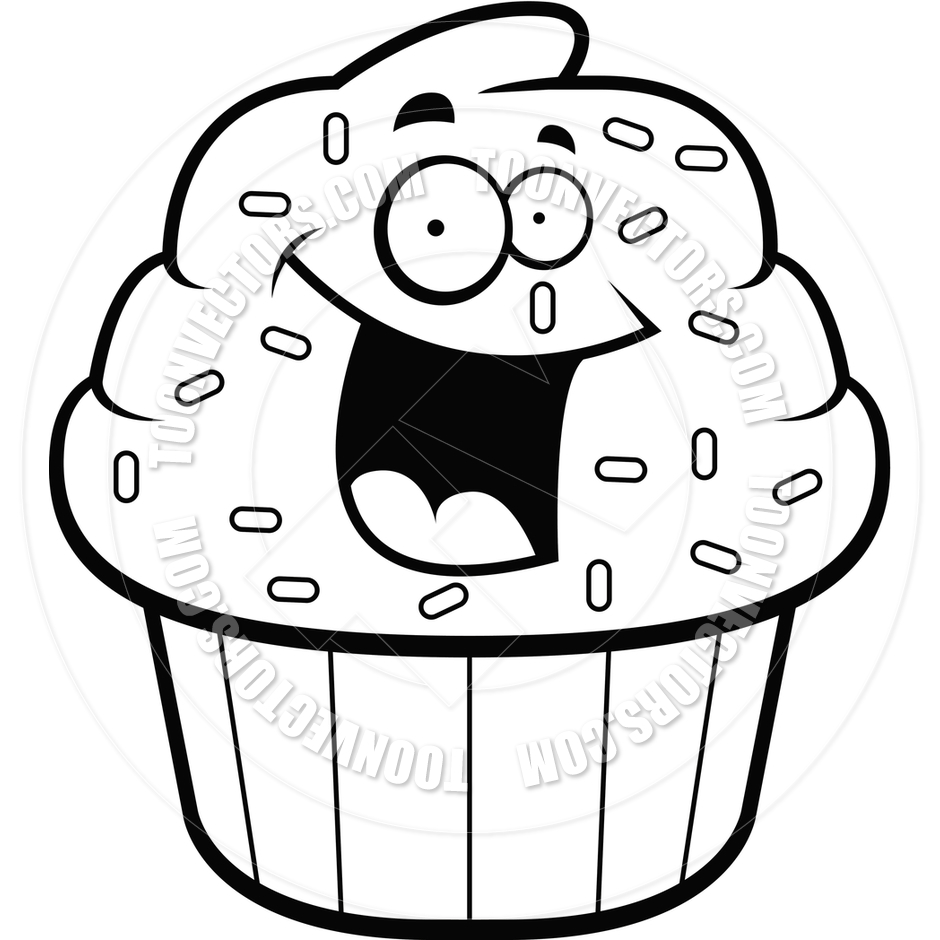 Cupcake Clip Art Black And White   Clipart Panda   Free Clipart Images