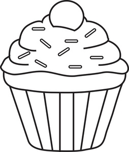 Clip Art Clip Art Cupcake cupcake black and white clipart kid panda free images