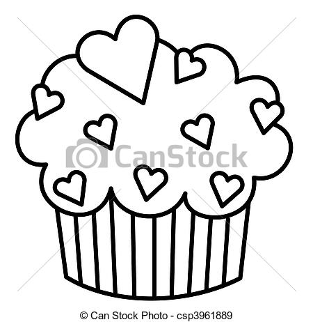 Cupcake Clipart Black And White   Clipart Panda   Free Clipart Images