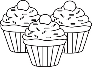 cupcake outline clipart clipart suggest Top Cupcake Clip Art Outline cupcake outline clipart free
