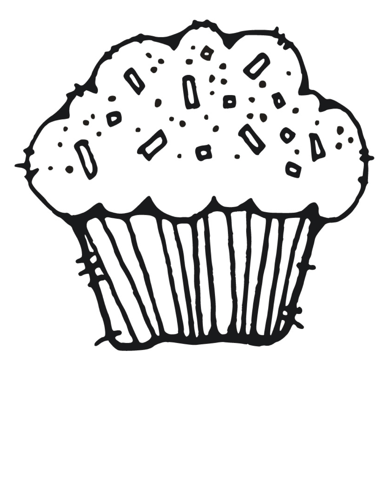 Cute Clipart Cupcakes Black And White Images   Pictures   Becuo