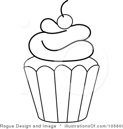 Clip Art Cupcake Clipart Black And White cute cupcake outline clipart kid download vector about clip art item 1 magz