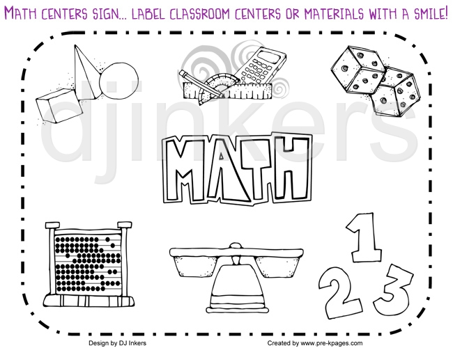 Elementary Math Black And White Clip Art Images   Pictures   Becuo