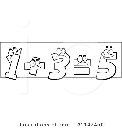 Elementary Math Black And White Clip Art Royalty Free  Rf  Math