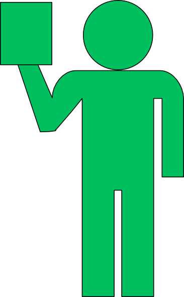 Employee With Green Ipad Clip Art