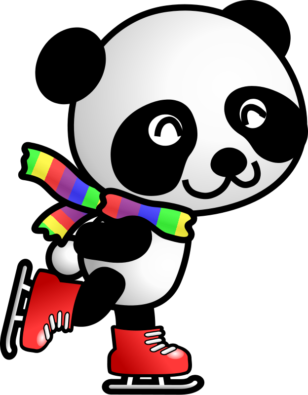 clipart panda winter - photo #18