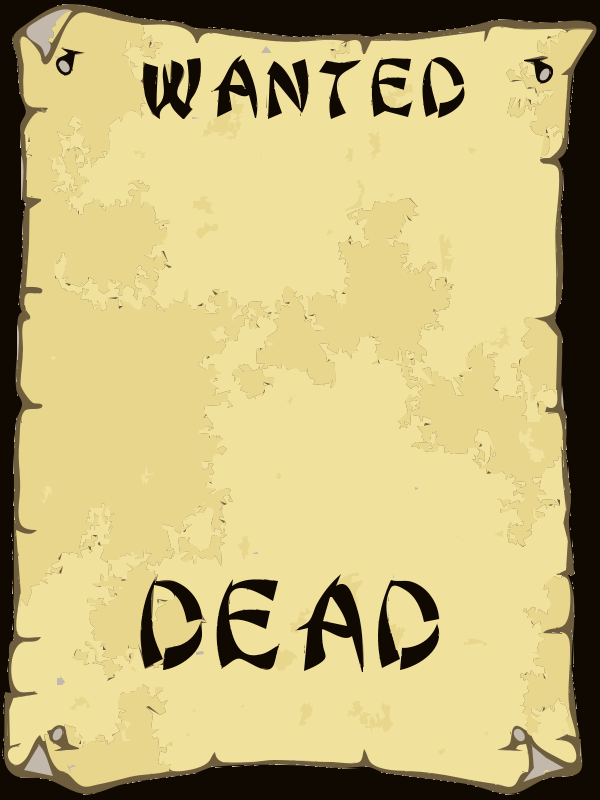 Free Wanted Poster Clip Art