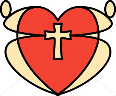 Heart With Cross Inside Clipart