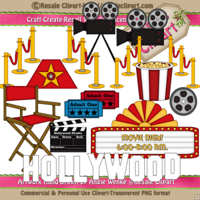 Hollywood 2    1 25   Resale Clipart 4 You Clipart You Can Create