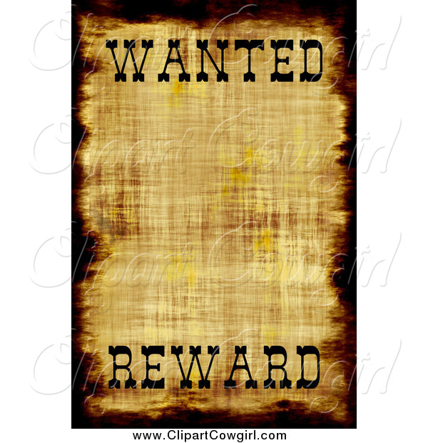 Of A Distressed Wanted Poster Cowgirl Clip Art Arena Creative