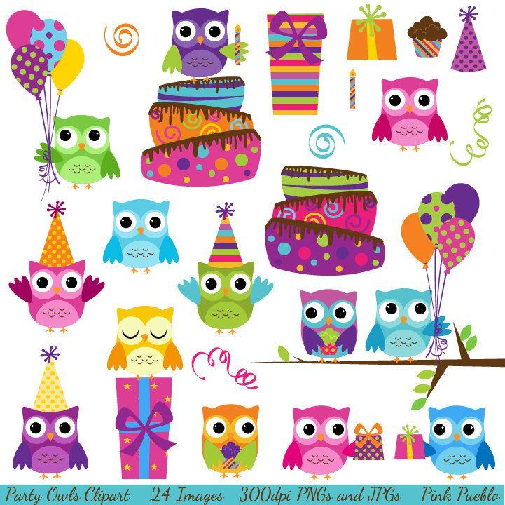 Happy Birthday Owl Clipart - Clipart Kid