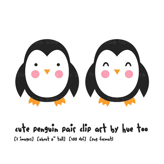 Penguin Clip Art Winter Penguins Clipart Holiday Cute Kawaii Baby