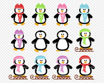 Penguin Clipart Commercial Personal Use   Christmas Clipart Winter