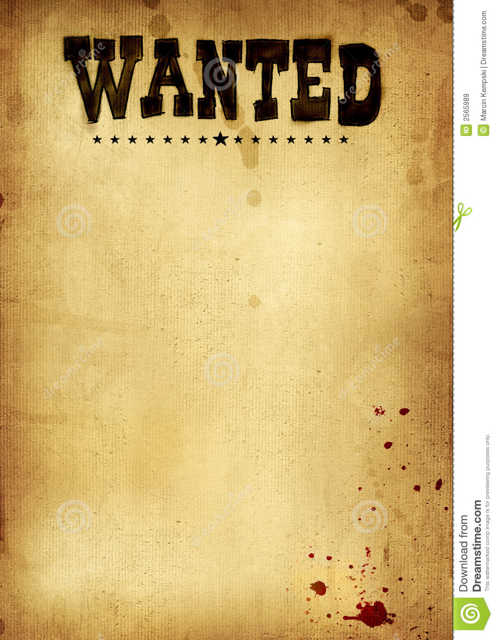 Poster Wanted Royalty Free Stock Images Image 2565989